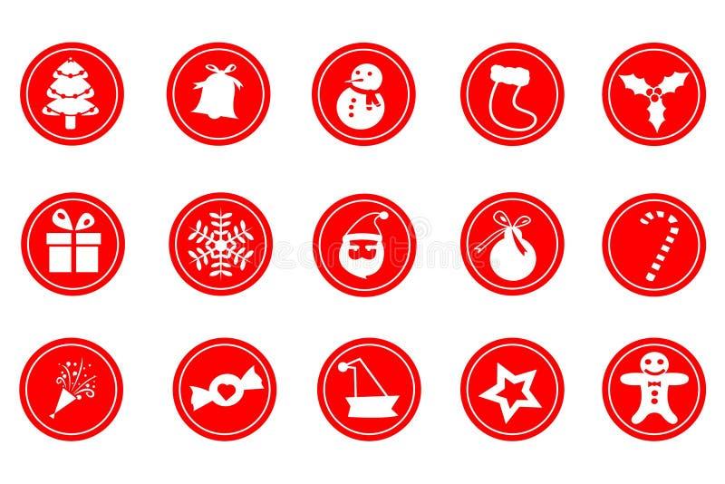 julsymbol stock illustrationer