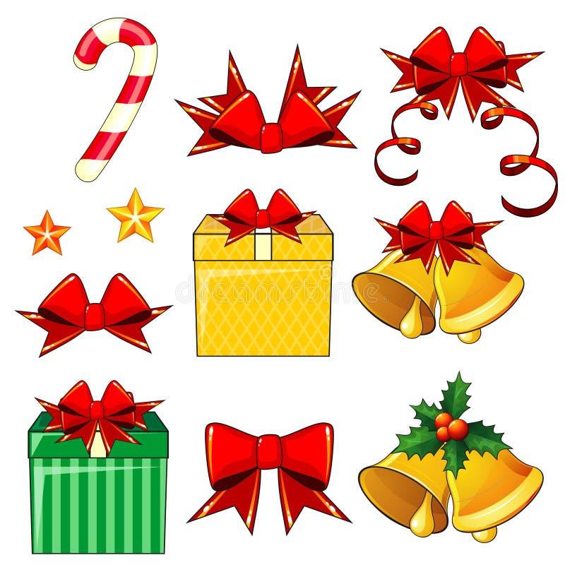 Julsymboler vektor illustrationer