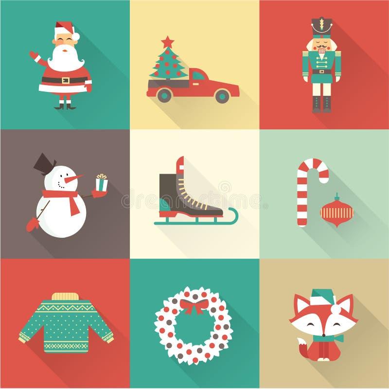 Julsymboler stock illustrationer