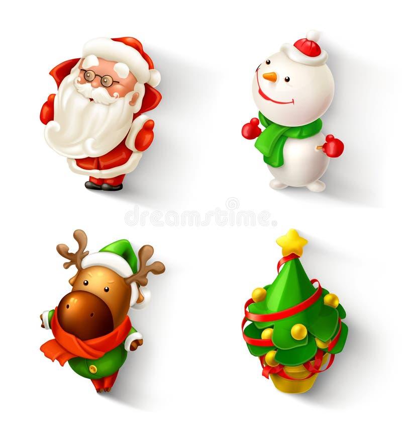 Julsymbolsuppsättning vektor illustrationer