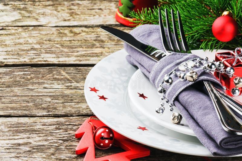 Jultabellinställning royaltyfri foto