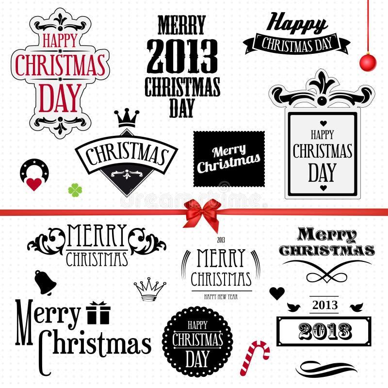 Jultappningset royaltyfri illustrationer