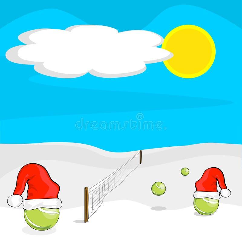 Jultennisbollar vektor illustrationer