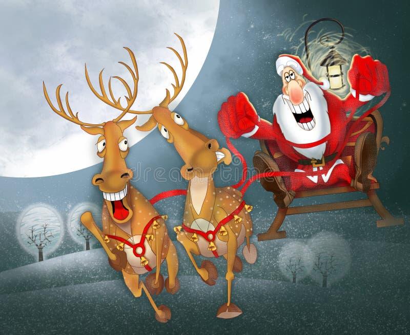 Jultomte vektor illustrationer