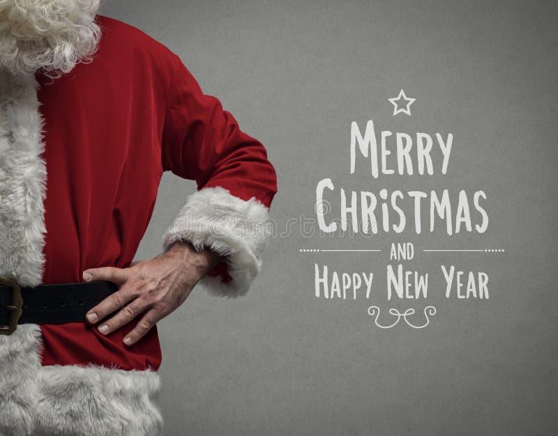 Jultomten- och julönska royaltyfri fotografi
