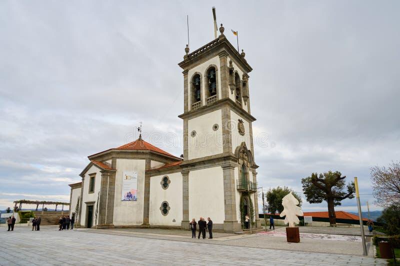 Jultomten Quitéria Felgueiras arkivbild