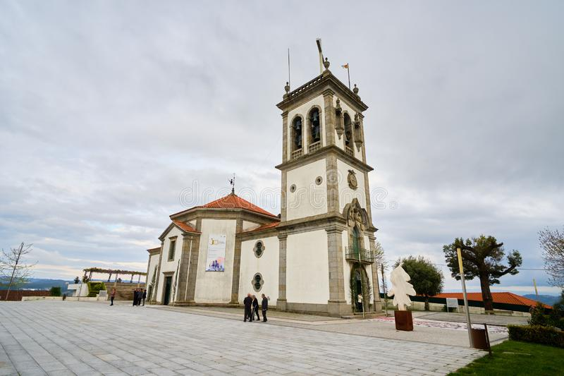 Jultomten Quitéria Felgueiras arkivbilder