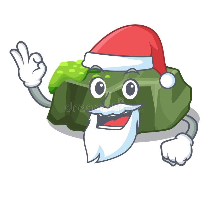 Jultomtengräsplan vaggar mossa som isoleras på tecknad film vektor illustrationer