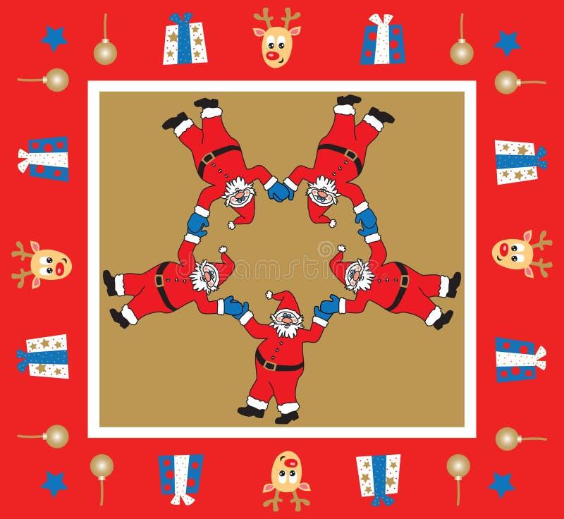 Jultomtensammansättning vektor illustrationer
