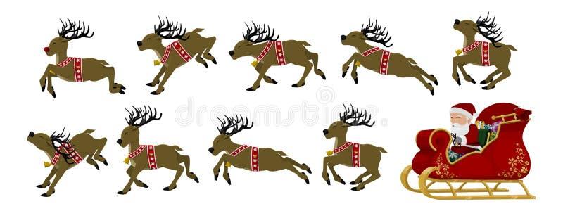 Jultomtenuppsättning vektor illustrationer
