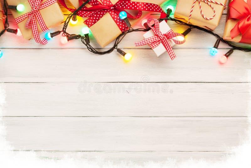 Julträbakgrund royaltyfria bilder