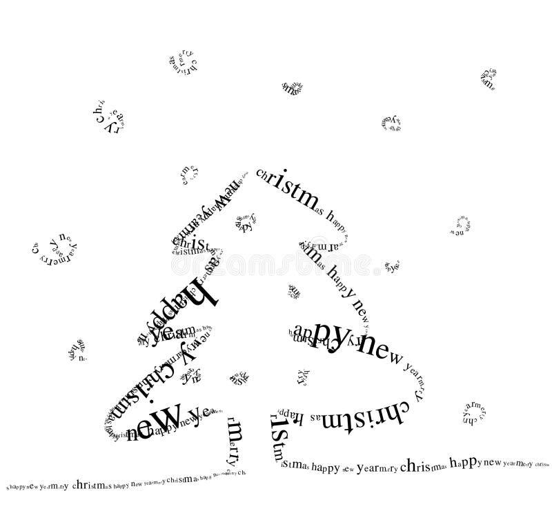jultree royaltyfri illustrationer