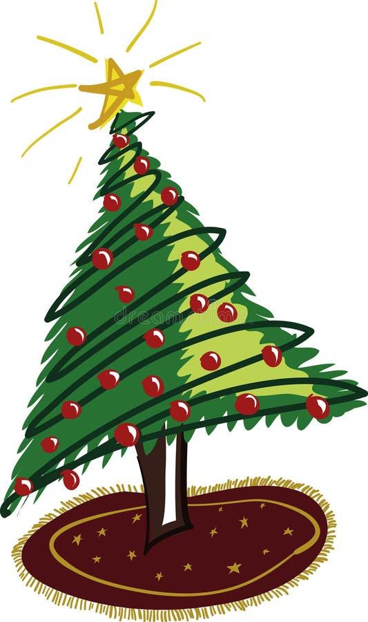 Download Jultree vektor illustrationer. Bild av frans, december, ferie - 39989