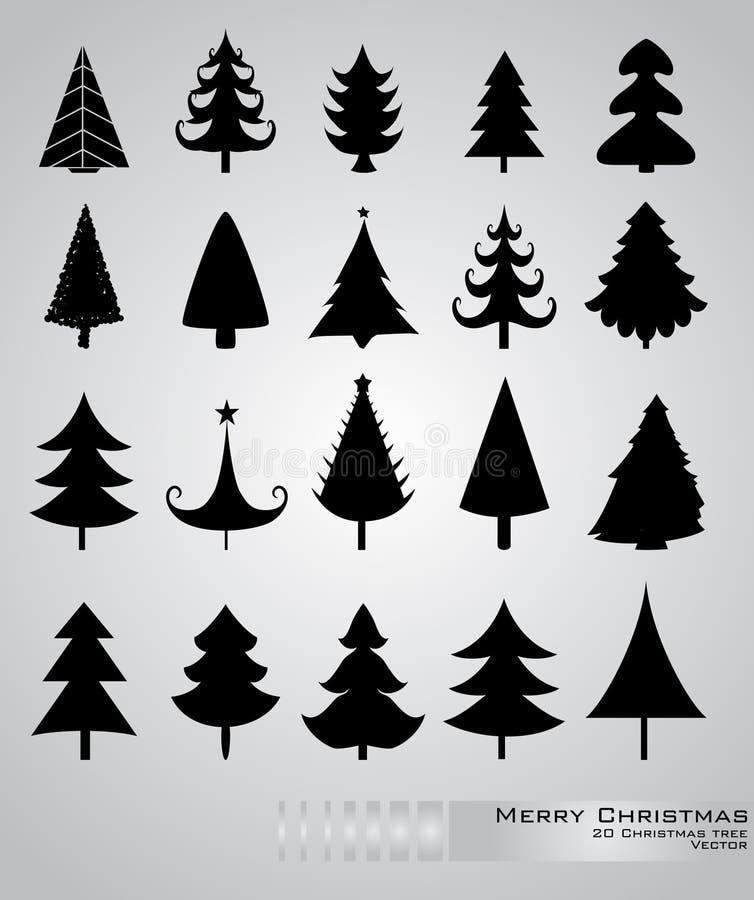 jultrees stock illustrationer