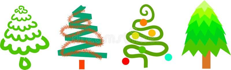 Download Jultrees stock illustrationer. Illustration av objekt, element - 248456