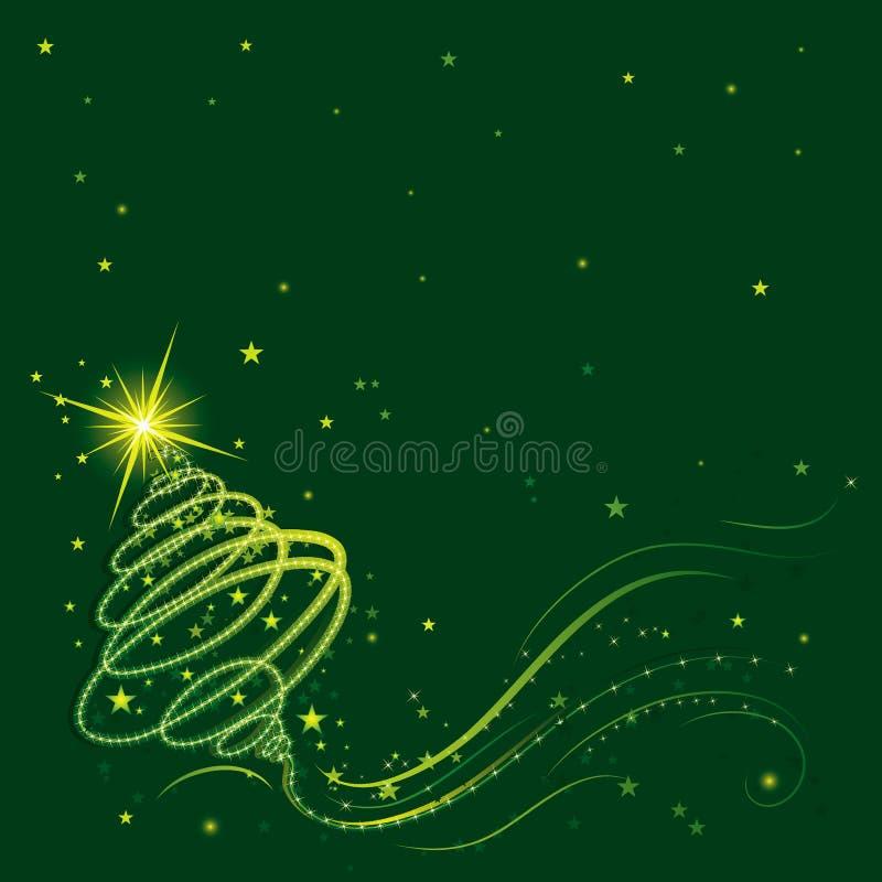 jultreevektor vektor illustrationer