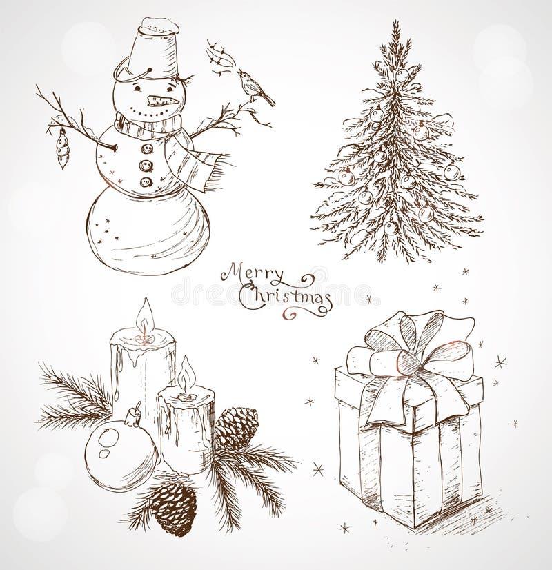 Juluppsättning stock illustrationer