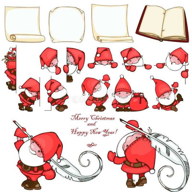 Juluppsättning royaltyfri illustrationer