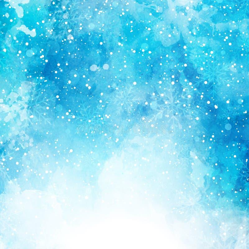 Julvattenfärgbakgrund stock illustrationer
