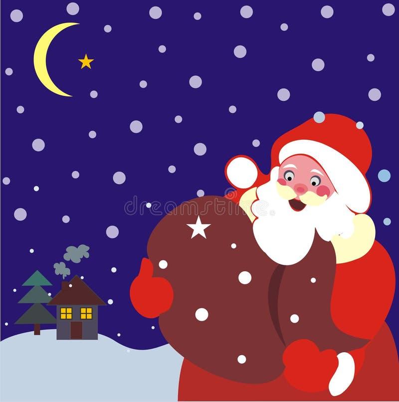 Julvinterplats vektor illustrationer