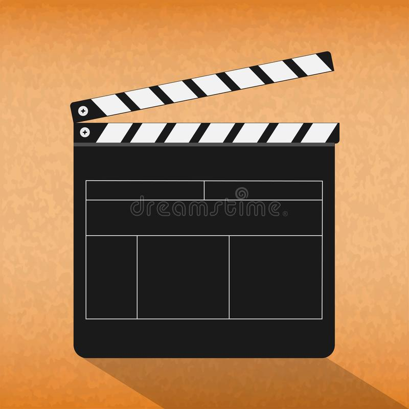 Cinema clapboard stock photos