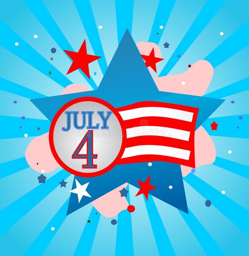 Download July 4 stock vector. Illustration of blue, sign, stripes - 10176531