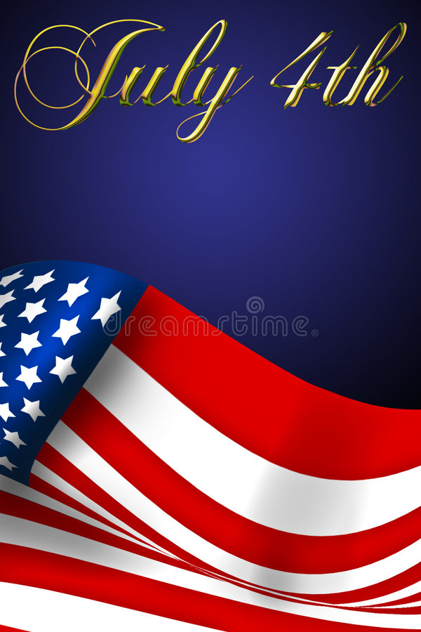 July 4 Being proud flag stock illustration