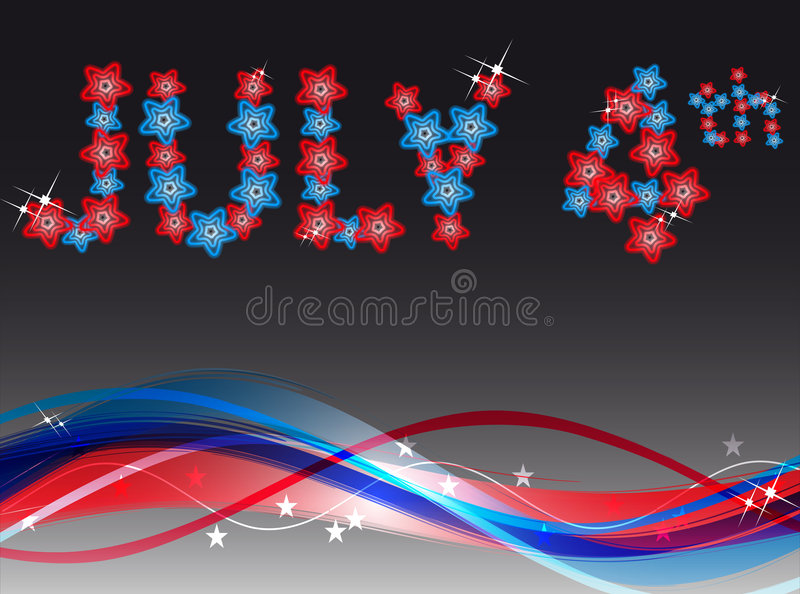 July 4 th. Vector illustration of july 4 th stock illustration