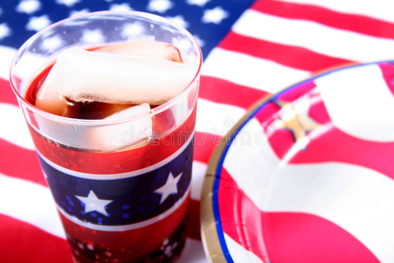 July 4th. Drink and flag royalty free stock images