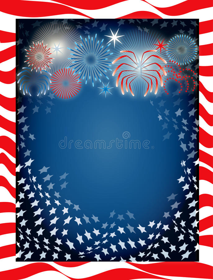 July 4th Background. Vector Illustration for the 4th of July Independence background stock illustration