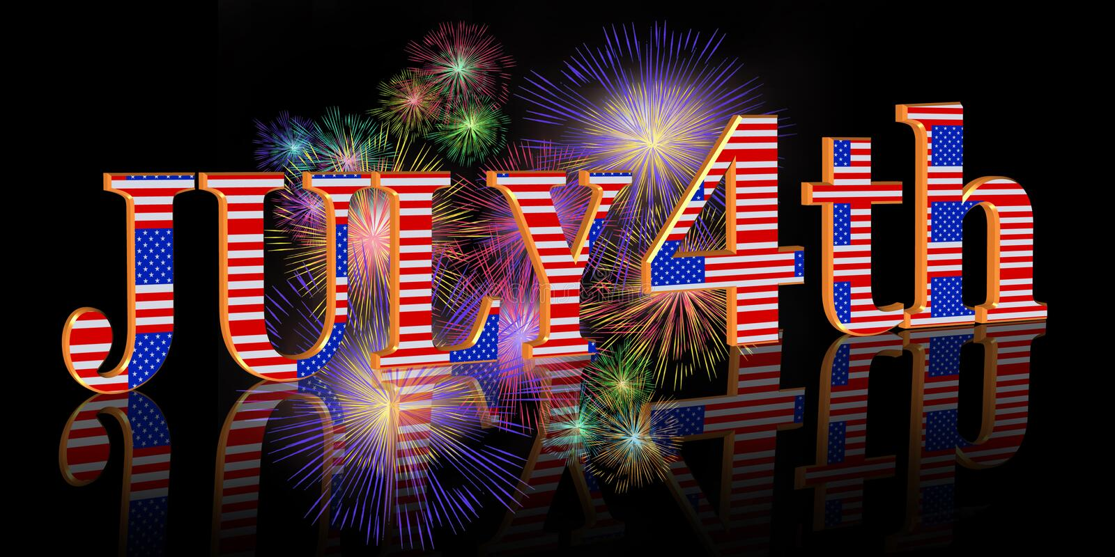 Download July 4Th Background Border Royalty Free Stock Image - Image: 9586246