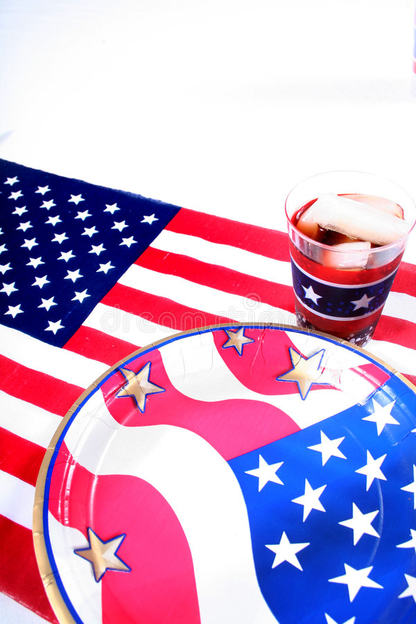 July 4th Picnic. July Fourth royalty free stock photos