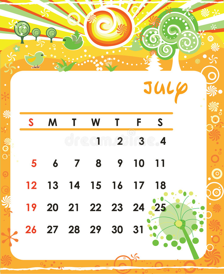 Download July stock vector. Illustration of blossom, white, frame - 7084574