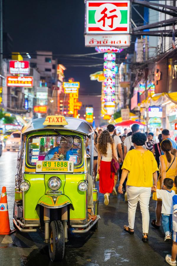 25 July 2019-Bangkok::China town bangkok. Thailand stock photo