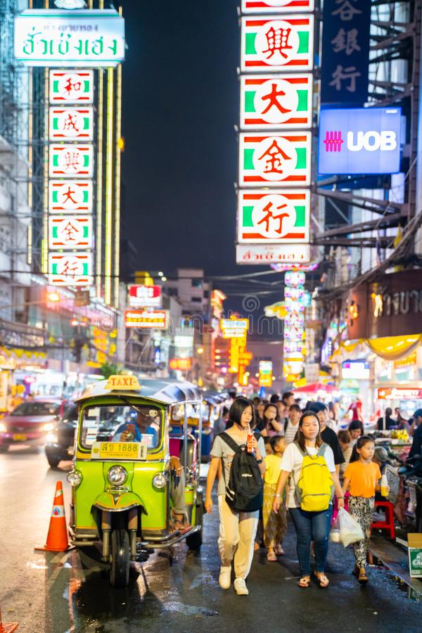 25 July 2019-Bangkok::China town bangkok. Thailand stock photos