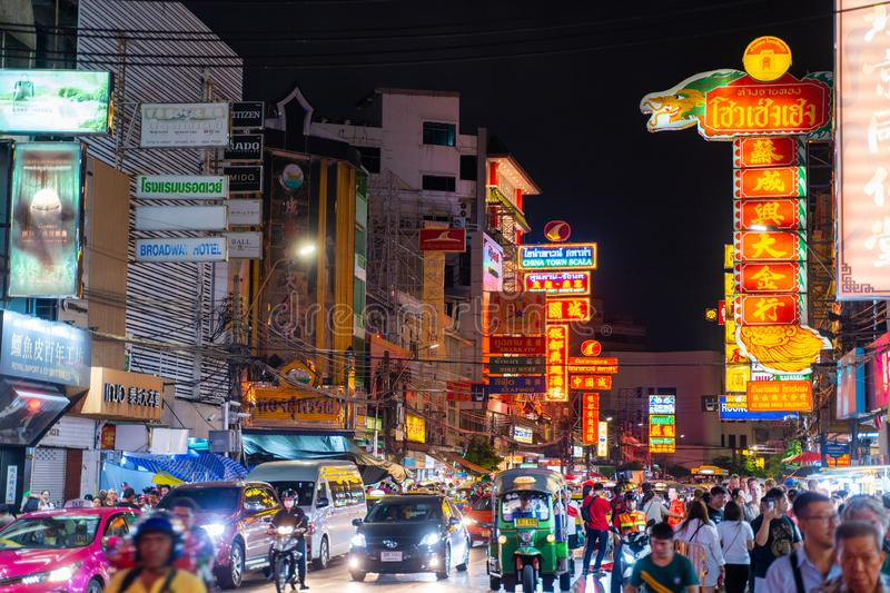 25 July 2019-Bangkok::China town bangkok. Thailand royalty free stock photography