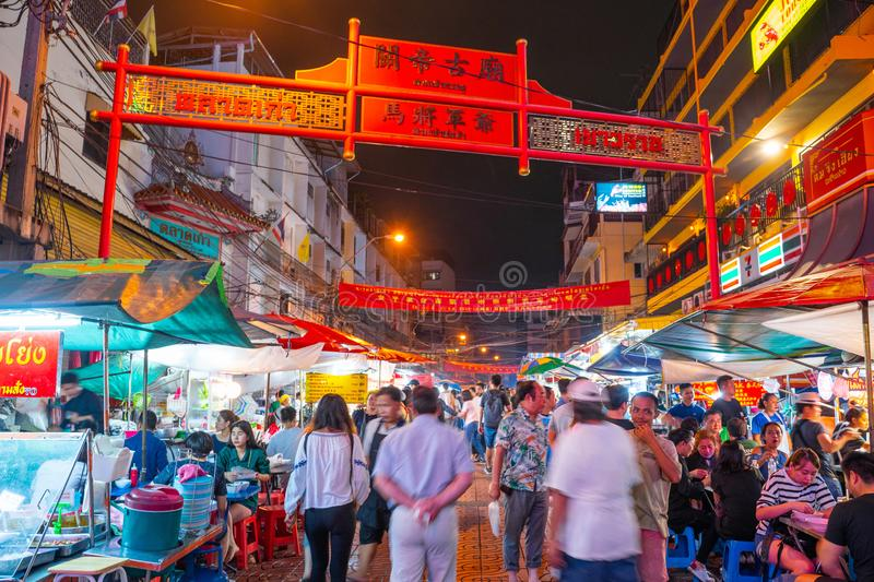 25 July 2019-Bangkok::China town bangkok. Thailand stock photography