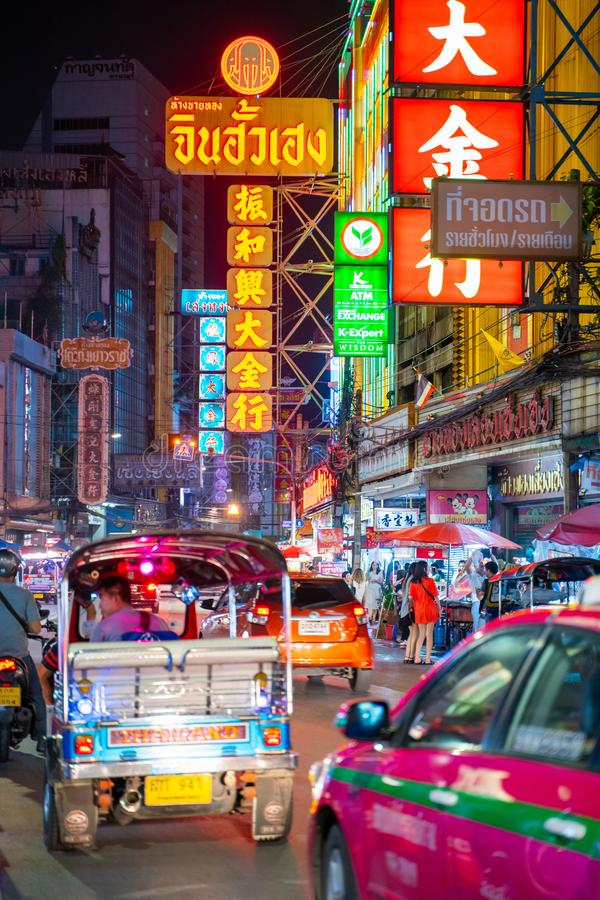 25 July 2019-Bangkok::China town bangkok. Thailand royalty free stock photos