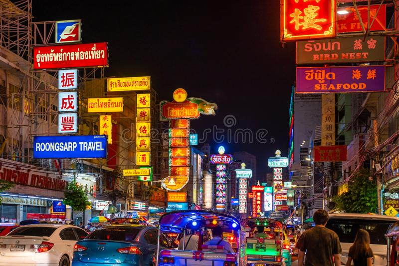 25 July 2019-Bangkok::China town bangkok. Thailand stock images