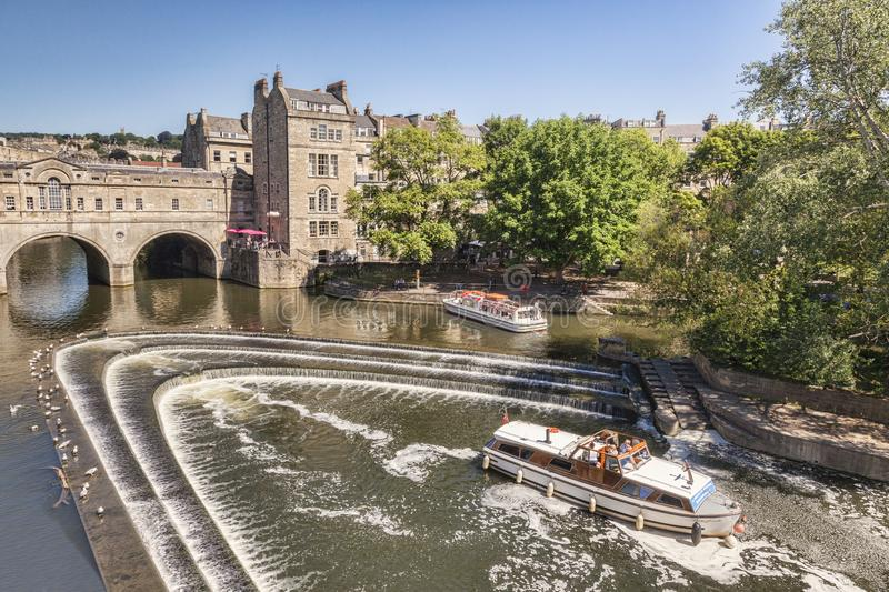 Pulteney Bridge and Weir Bath Somerset UK royalty free stock images