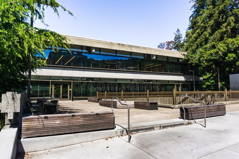 July 13, 2019 Berkeley / CA / USA - Moffitt Library in the UC Berkeley campus is one of the busiest libraries, serving students of. All majors with long stock photo