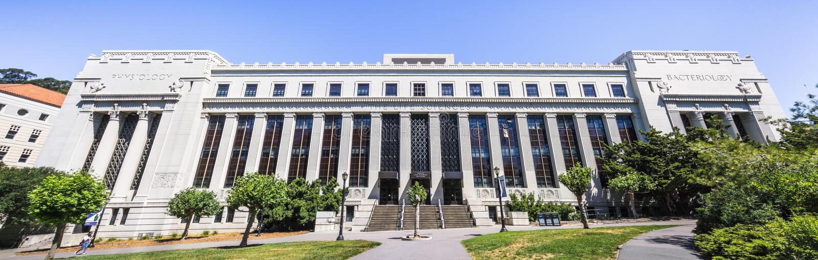 July 13, 2019 Berkeley / CA / USA - The Valley Life Sciences Building at UC Berkeley, the largest building on campus; the Museum. Of Paleontology UCMP is also stock photography
