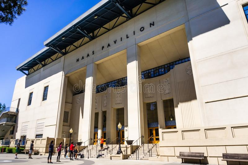 July 13, 2019 Berkeley / CA / USA - The Walter A. Haas Jr. Pavilion in the UC Berkeley campus is the home of the University of royalty free stock image