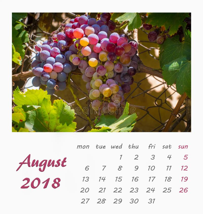 July Desk Calendar 2018 Template flyer design . Valencia. July Desk Calendar 2018 Template flyer design Spain Valencia stock image