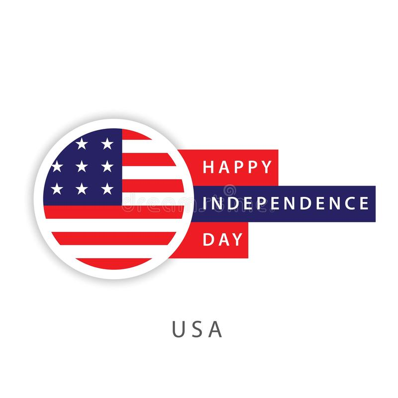 Happy USA Independence Day Vector Template Design Illustrator vector illustration