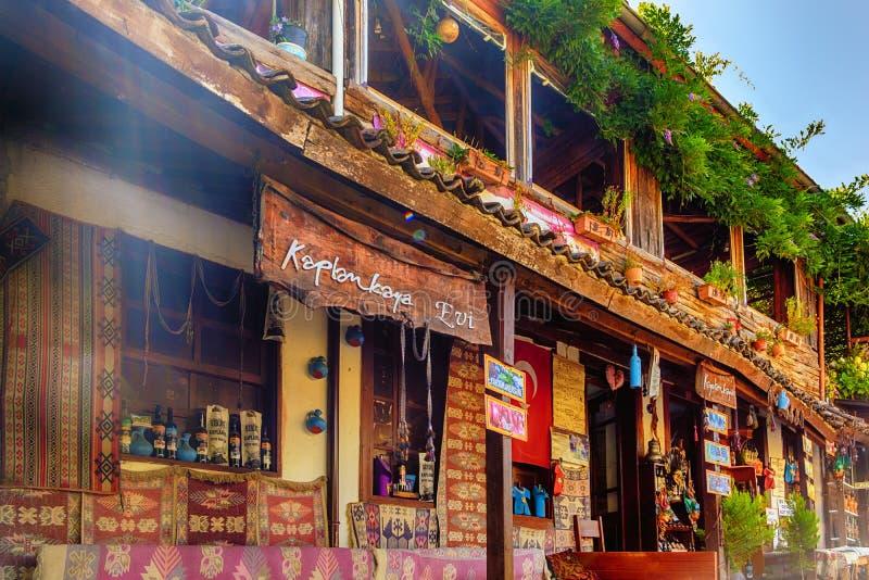 July 16, 2018, Izmir, Sirince Village, Turkey. Art village near Ephesus. view of the shops stock images