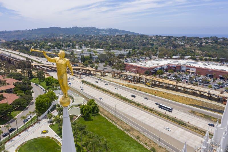 San Diego California Mormon Temple royalty free stock image
