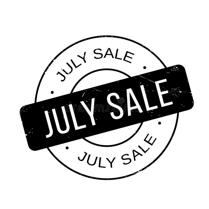 July Sale rubber stamp. Grunge design with dust scratches. Effects can be easily removed for a clean, crisp look. Color is easily changed vector illustration