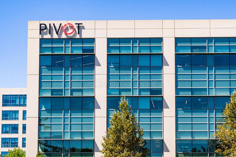 July 29, 2019 Santa Clara / CA / USA - Pivot Interiors corporate offices located in Silicon Valley; Pivot offers office design and royalty free stock photography