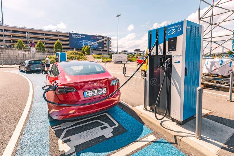 Tesla Charging Station. editorial stock photo. Image of ...